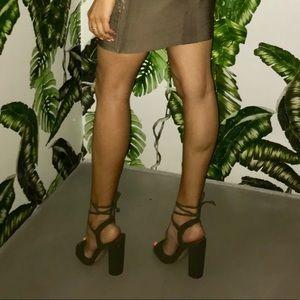 😳MOVING SALE! Steve Madden Green Chunky Heel